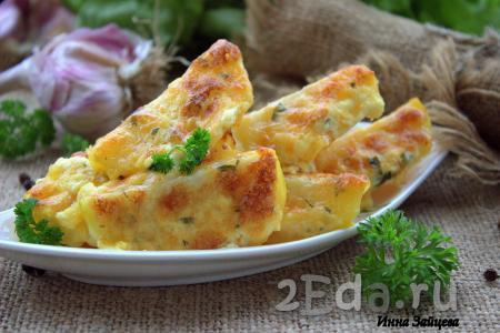 Картошка под сыром с майонезом в духовке