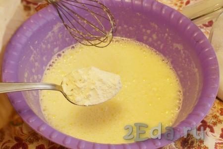 Рулет с заварным сметанным кремом - рецепт пошаговый с фото