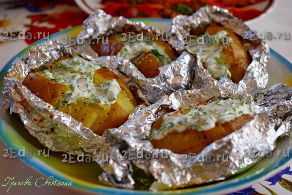 сколько печь картофель в фольге