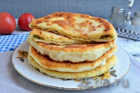 Картофельная лепешка на сковороде - рецепт пошаговый с фото