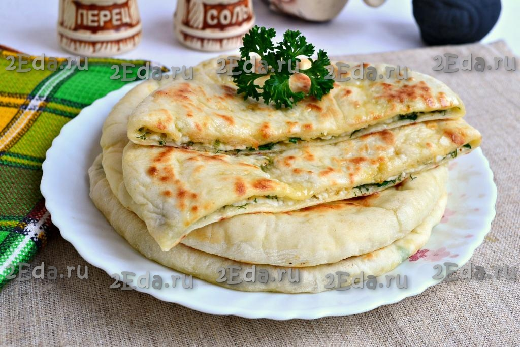 лепешки с адыгейским сыром на сковороде рецепт