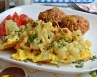 Жареная цветная капуста с яйцом