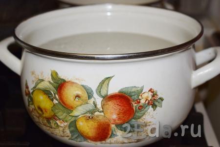 Компот из замороженной вишни и яблок - рецепт пошаговый с фото